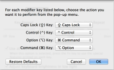 Modifier Key Options OS X